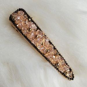 Elegant Stone & Beads Hair Clip